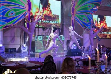 Odessa, Ukraine November 26, 2013: Go go dancer. Dance show at night club. Performance show during night party.