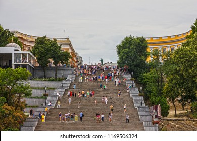 Odessa, Ukraine - Sep 4, 2018: Potemkin stairs in Odessa.
