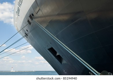 ODESSA, UKRAINE - SEPTEMBER 04: Queen Victoria, Cunard's famous luxury cruise liner, in a Odessa sea port on September 04, 2011 in Odessa, Ukraine.