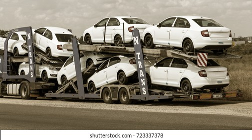 Accident Abandoned Dirty White Cars Parked Stock Photo Edit Now