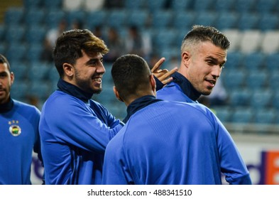 ODESSA, UKRAINE - September 15, 2016: Robin van Persie gets schelbany during the UEFA Europa League match group stage Zarya Lugansk vs FENERBAHCE Istanbul, 15 September 2016, Ukraine