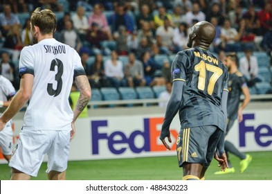 ODESSA, UKRAINE - September 15, 2016: Moussa Sow during the UEFA Europa League match group stage Zarya Lugansk vs FENERBAHCE Istanbul, 15 September 2016, Ukraine