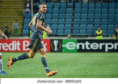 ODESSA, UKRAINE - September 15, 2016: Robin van Persie during the UEFA Europa League match group stage Zarya Lugansk vs FENERBAHCE Istanbul, 15 September 2016, Ukraine