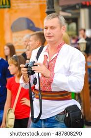 ODESSA, UKRAINE - September 17: Ukrainian at Vyshivankovy Festival on September 17,2016 in Odessa, Ukraine