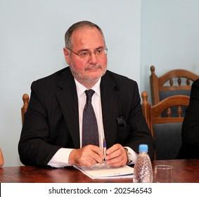 Odessa, Ukraine - September 25, 2010: French Ambassador to Ukraine Jacques Faure, with ofitsivlnym visit to the regional administration, September 25, 2010 in Odessa, Ukraine.