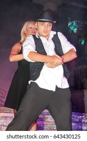 Odessa, Ukraine September 9, 2011: Go go dancer. Ballet Dance show at night club. Performance show during night party.