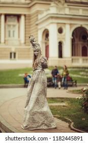ODESSA, UKRAINE September 9th, 2018: Interesting people on the street