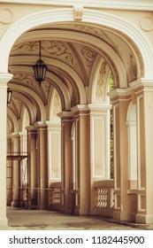 ODESSA, UKRAINE September 9th, 2018: Architecture of the city of ODESSA