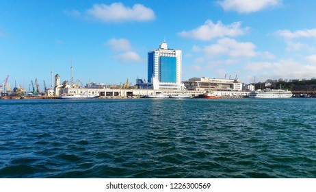 Odessa, Ukraine-04/26/2017:view of the Odessa seaport