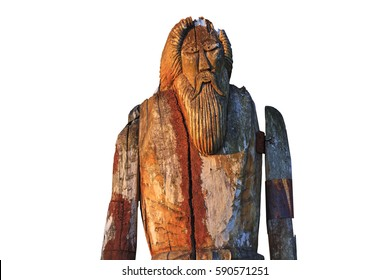 Odin isolated on white background,sagas, mythology, monuments, idols, Odin, Scandinavia creation the supreme god