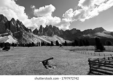 The Odle chain, part of the Dolomites, a UNESCO heritage site