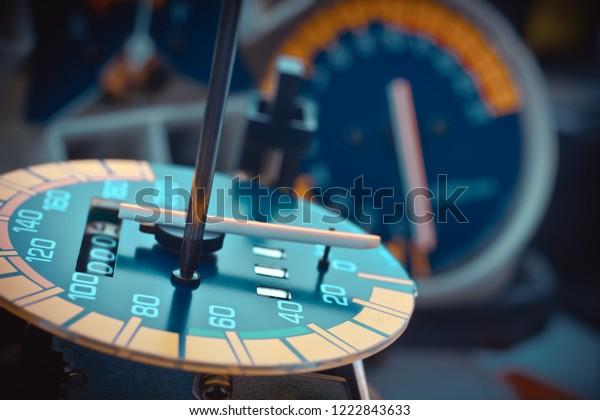 Odometer Reprogramming Hand Technician Modify Reset Stock