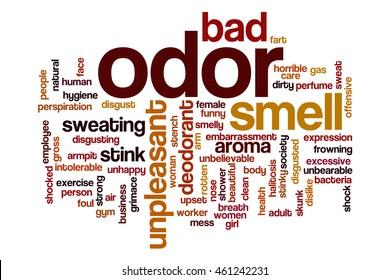 Odor word cloud