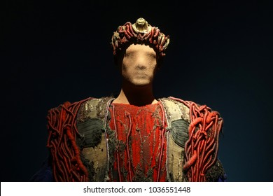 Oedipus the King of Sophoces theatrical costume for Greek tragedy