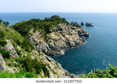 Oedo Botania Garden Island in Hallyeo Haesang National Marine Park located at Geoje city, Gyeongsangnam , South Korea