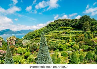 Oedo-Botania island, garden scenery at summer day in Geoje, Korea
