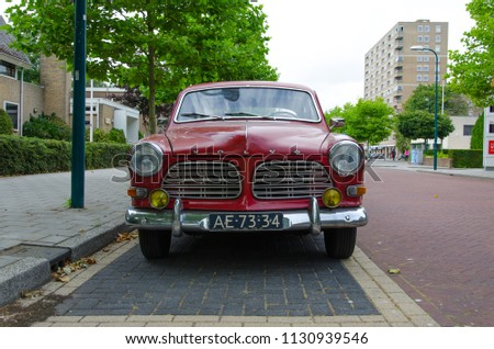 Oegstgeest Netherlands 09072018 Red Old Volvo Stock Photo Edit Now