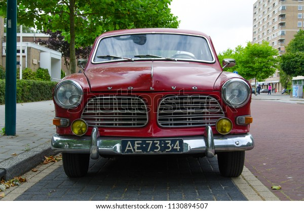 Oegstgeest Netherlands 09072018 Red Old Volvo Stock Photo