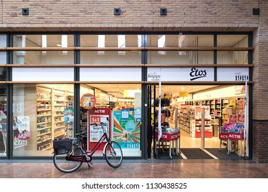 OEGSTGEEST, THE NETHERLANDS - June 25, 2018: Etos branch. Etos operates more than 550 drugstores in the Netherlands and is owned by Ahold Delhaize.