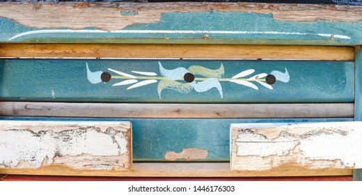 Oeiras, Brazil - Circa June 2019: Traditional truck art design from Oeiras, Piaui state (Northeast Brazil)