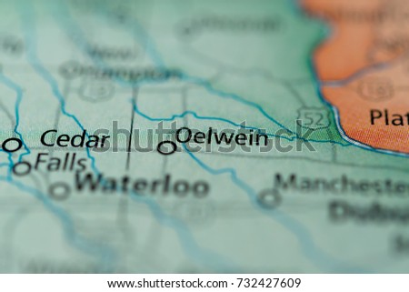Oelwein Iowa Map.Oelwein Iowa Stock Photo Edit Now 732427609 Shutterstock