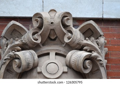 Off Center Detail of Architectural Decorative Medallion
