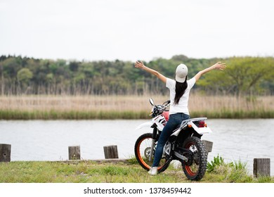Off road bike and Japanese women