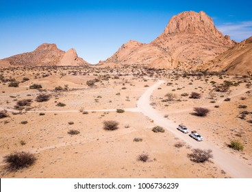 Off road driving to Spitzkoppe's rock formations, Namibia