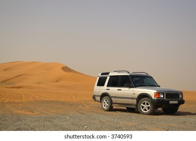 Off Road Land Rover Discovery by Sand Dunes