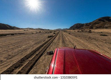Off road trip along Atacama Desert at Pan de Azucar National Park, crossing the vast and dry extensions of the Desert in these arid lands. A road to the infinity keep us traveling on the right way