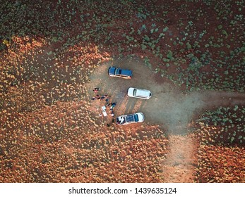 Off road in Western Australia drone from above