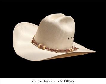 White Straw Cowboy Hat Hatband On Stock Photo (Edit Now) 67823014 ... 96c4e6405b28