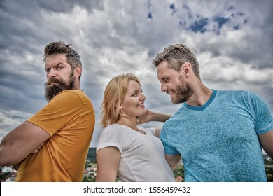 Offended partner still suffers. Couple and rejected partner. How get over breakup for guys. Ruined relationships. Psychology of breakup. Girl stand between two men. What do when you feel rejected.