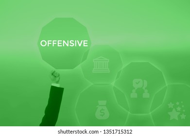 OFFENSIVE - technology and business concept