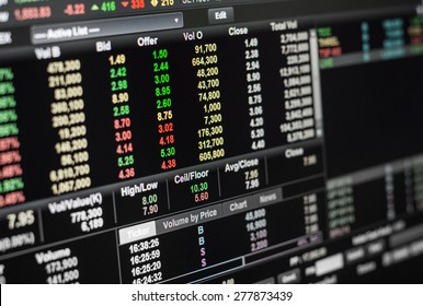 The offer volumn on online stock exchange.