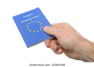 Offering a euro zone document isolated on a white background