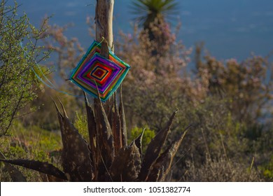 Offering made by the Huichols in Wirikuta, sacred city of the Huichol San luis potosi, Mexico.