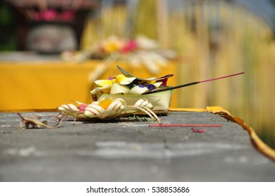 Offerings for worship during Nyepi Day