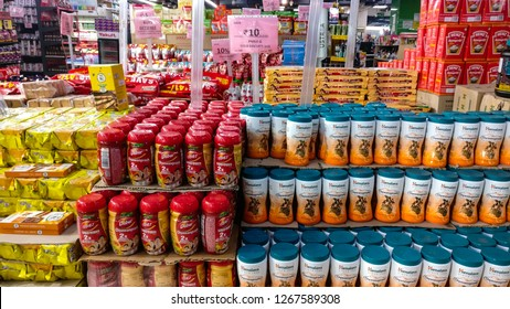 Offers section with brands on sale in modern retail store in Delhi, India