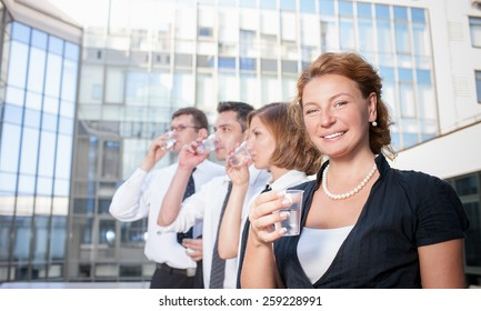 Officce workers drink clean water across office