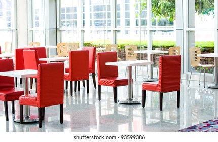 office bar with many chairs and table.