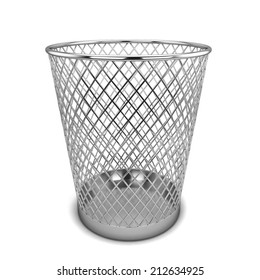 Office bin. 3d illustration isolated on white background