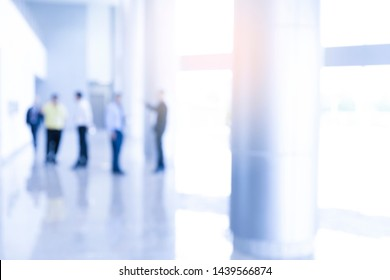 Office blur business background with flare