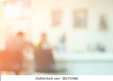 Office blurred background and defocused for presentation.
