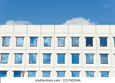 Office Building with Blue Sky