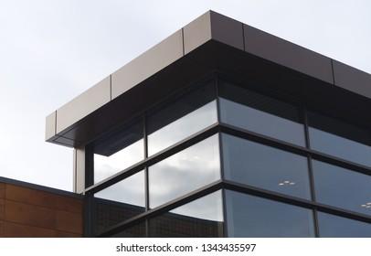 office building corner modern architecture windows work skyscraper