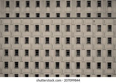 Office Building front, pattern, window, symmetric in miami, florida, usa