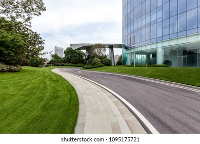 Office building green and pavement