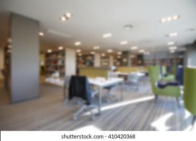 office building interior blur background