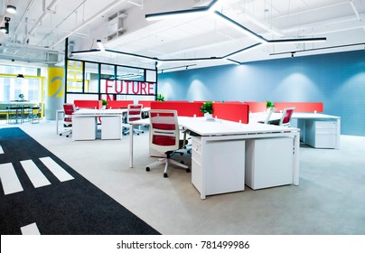 Office building interior scene map